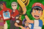 Ash nel momento del trionfo nella Pokémon League
