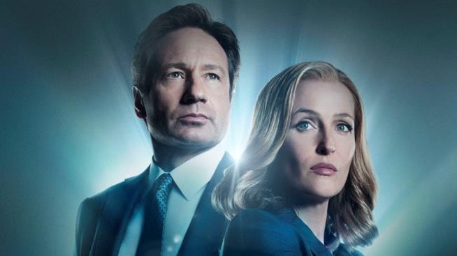 Fox Mulder e Dana Scully nella serie TV X-Files