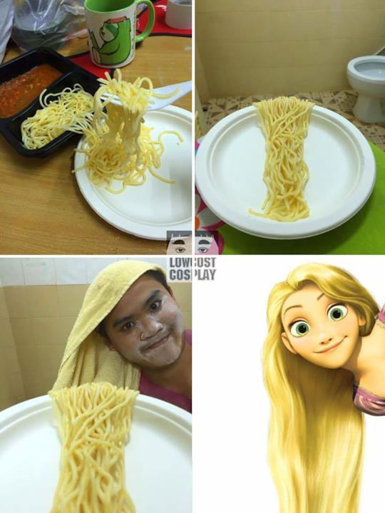 Low cost Cosplay: Rapunzel