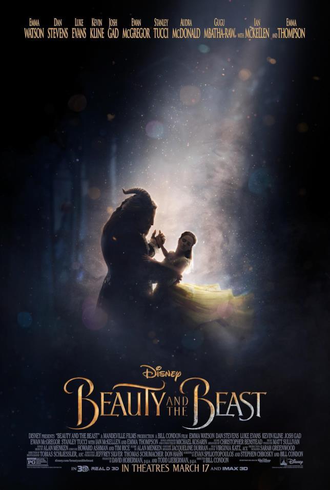 Belle e la Bestia nel poster ufficiale del live-action Disney