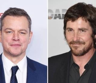 Collage di Matt Damon e Christian Bale