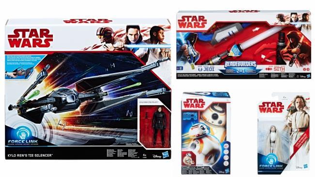 Alcuni modelli della nuova linea di giocattoli Hasbro dedicata a Star Wars: Gli Ultimi Jedi