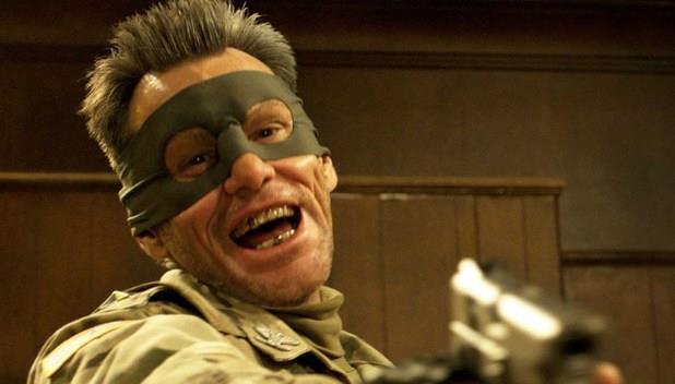 Jim Carrey in una scena di Kick - Ass 2