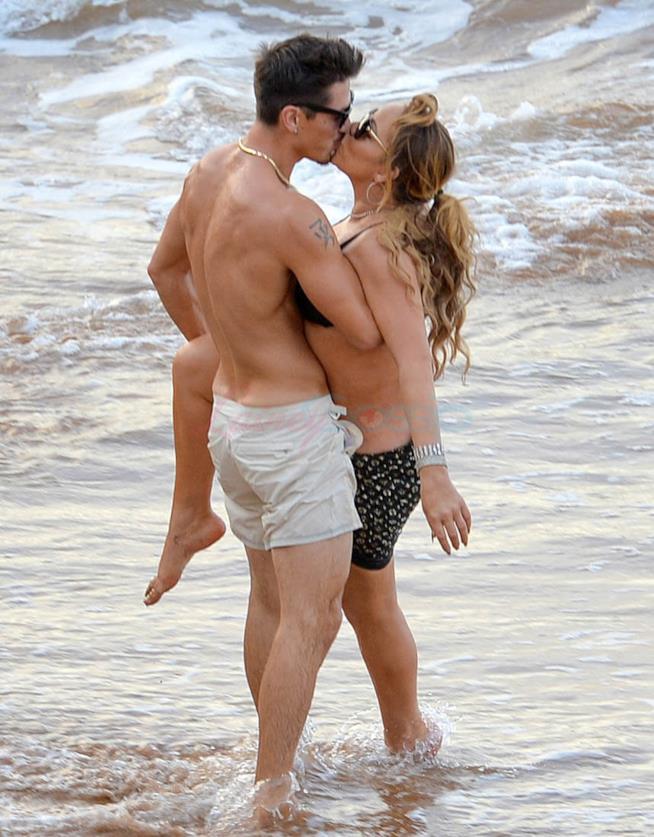 Mariah Carey con l'ex fidanzato Bryan Tanaka