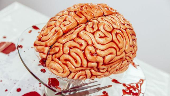 Torta cervello di Halloween