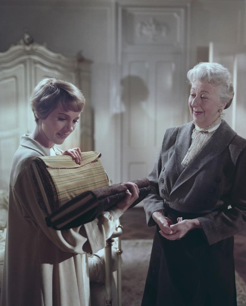 Julie Andrews sul set di Tutti insieme appassionatamente