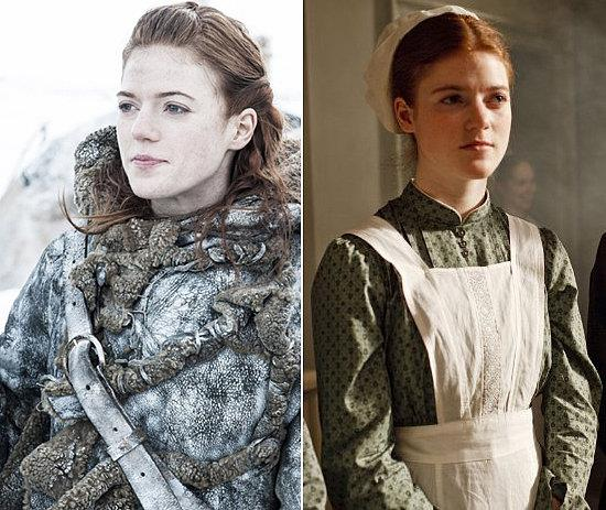 Rose Leslie nei panni di Ygritte in Game of Thrones e Gwen in Downton Abbey