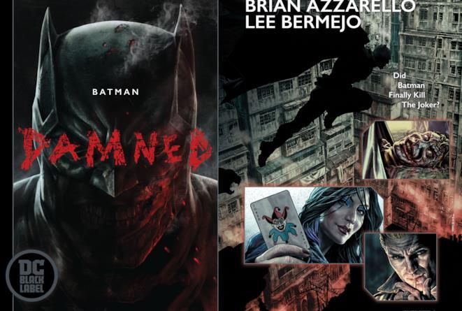 Manifesto pubblicitario pubblicato in occasione dell'uscita di Batman Damned #1