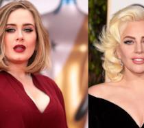 Primo piano di Adele e Lady Gaga