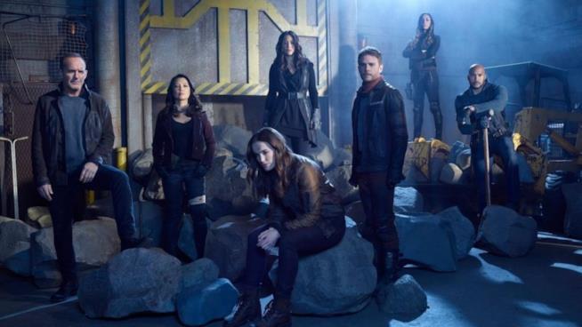 Il cast di Marvel's Agents of S.H.I.E.L.D. al completo