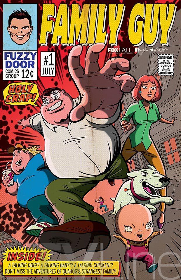 I Griffin passano all'azione in una posa da fumetti