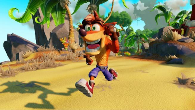 Il mitico Crash Bandicoot in azione nel remake per PlayStation 4