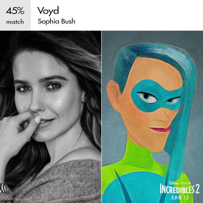 Void è doppiata da Sophia Bush