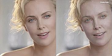 Anche la bella Charlize può essere vittima di MakeApp