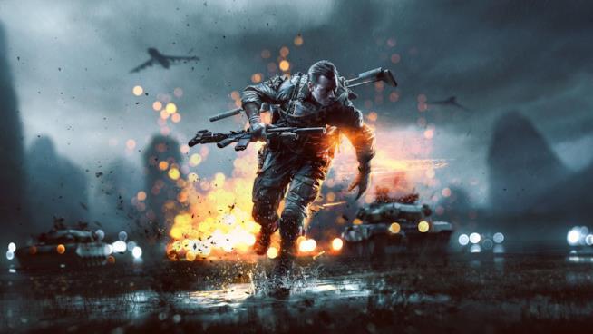 Un soldato in azione in un artwork ufficiale di Battlefield 4