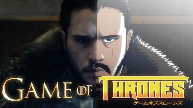 Jon Snow in versione anime nel video di Malec
