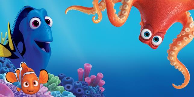 Dory, Nemo e Hank in Alla Ricerca di Dory
