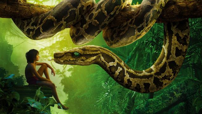 Mowgli faccia a faccia col serpente Kaa