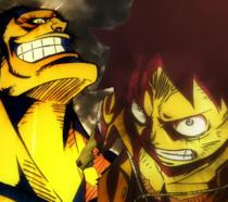 One Piece: Stampede, Rufy e Bullet