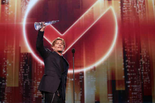 Johnny Depp durante il suo discorso ai People's Choice Awards