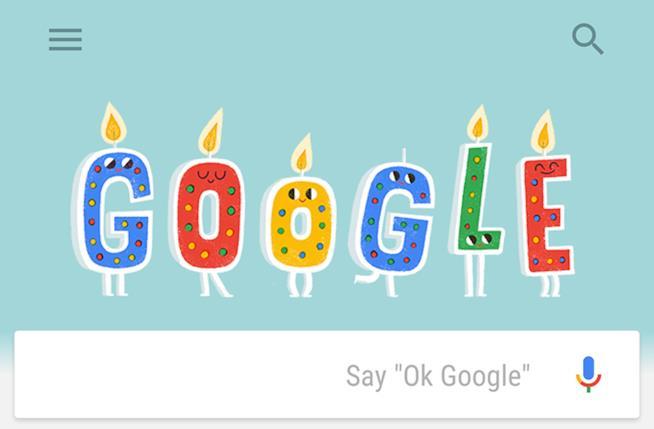 Google Compleanno 20 anni