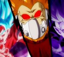 Dragon Ball Heroes, Vegetto Kanba scimmione e Fu trasformato