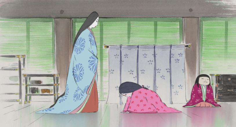 Lady Sagamu insegna alla principessa come muoversi senza alzarsi