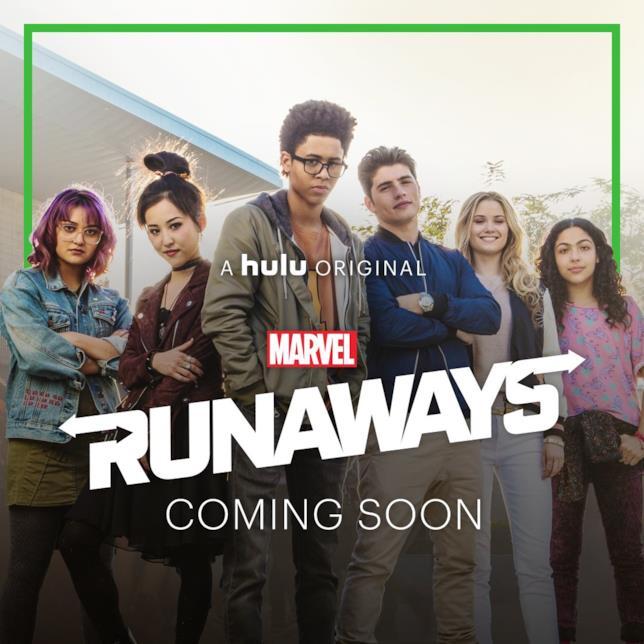 I sei protagonisti di Runaways nella serie Hulu