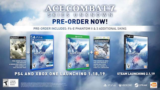 Ace Combat 7 in uscita su PC, PlayStation 4 e Xbox One