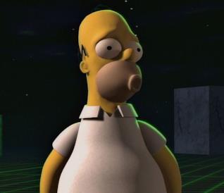 I Simpson: un frame di Homer al cubo