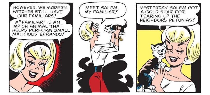 Sabrina, la strega adolescente e il suo gatto Salem: la versione 1971