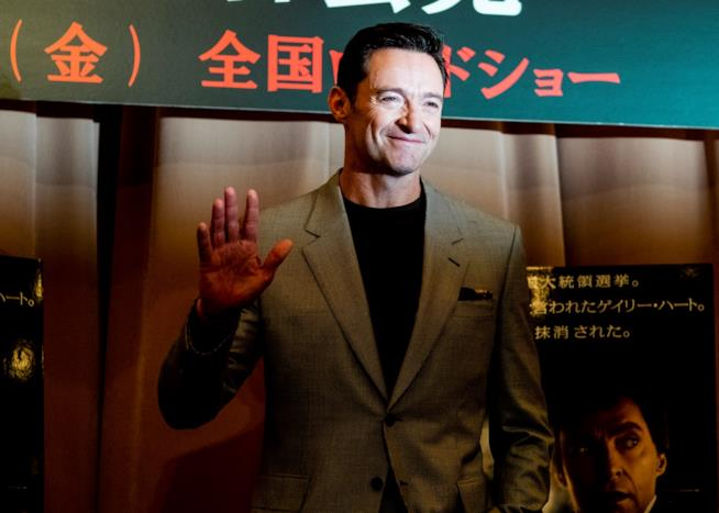 Jackman durante la premiere giapponese di The Front Runner
