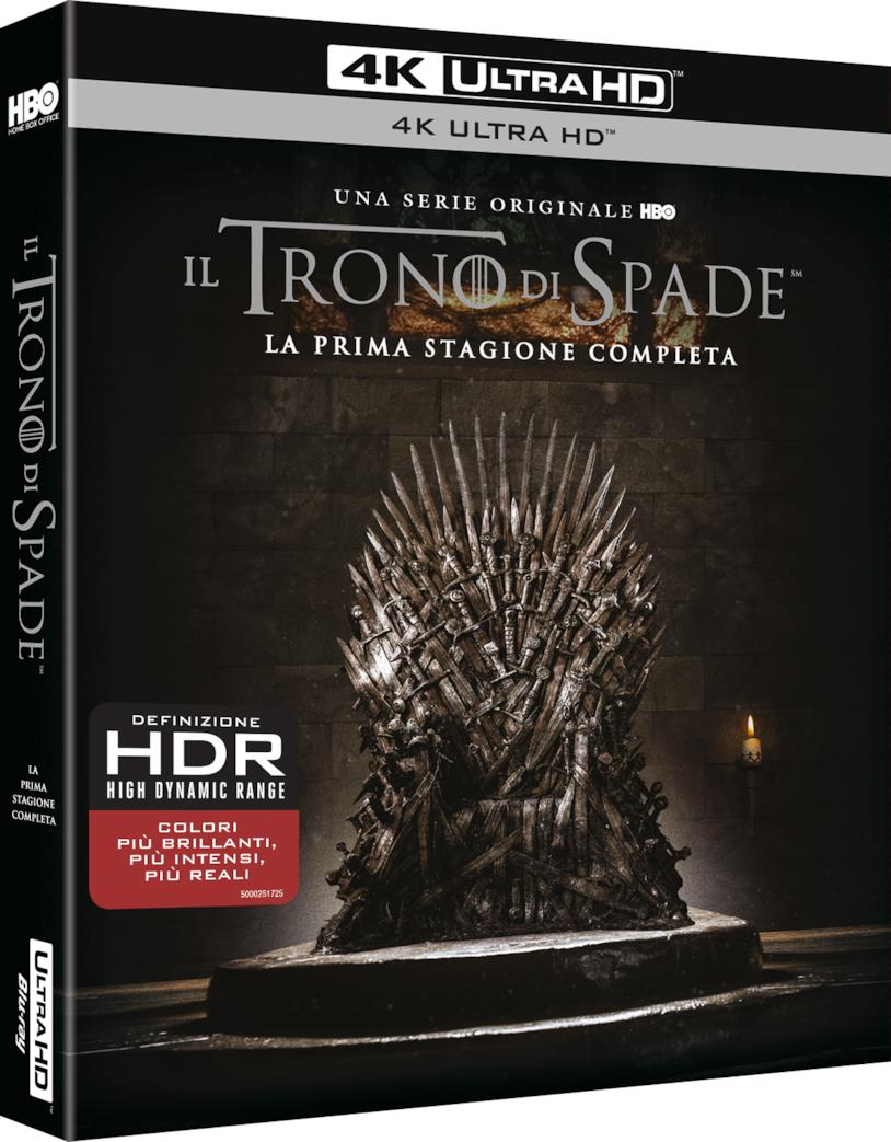 Packshot di Game of Thrones 1 in Blu-ray 4K