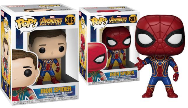 La Iron Spider con e senza maschera creata da Funko