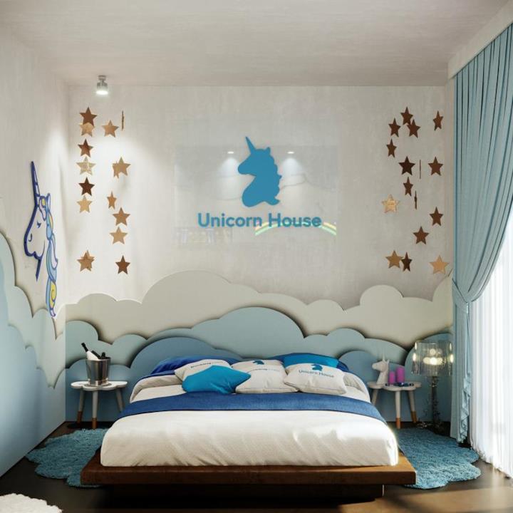 Il letto della Unicorn House