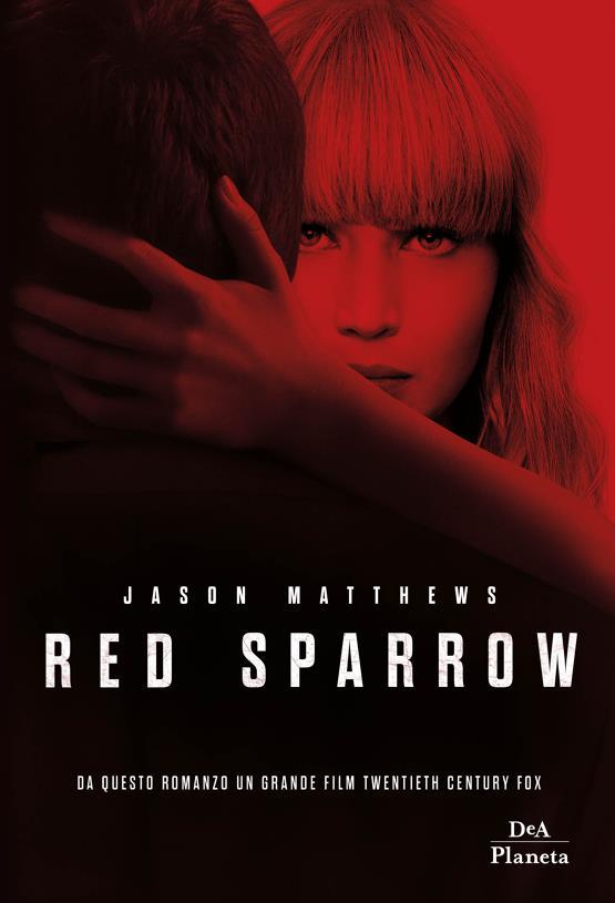 La copertina del romanzo Red Sparrow