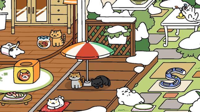 Neko Atsume, applicazione giapponese