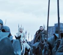 Daenerys e Jon Snow all'arrivo degli eserciti della Madre dei Draghi a Grande Inverno