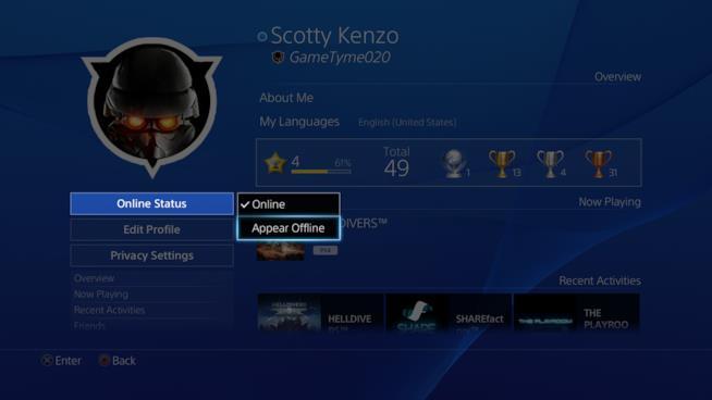 "L'update 3.50 di PS4 consente lo ""status offline"""