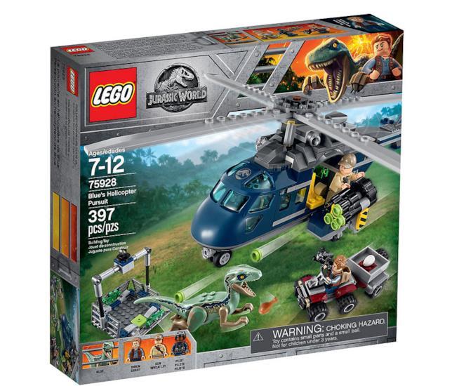 Dettagli del box del set LEGO Inseguimento sull'elicottero di Blue