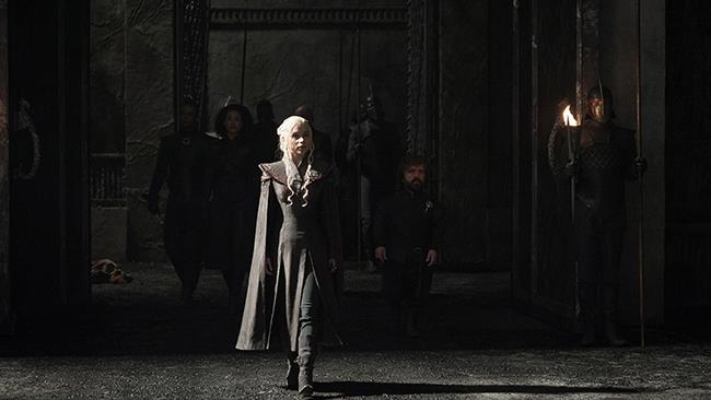 Daenerys Targaryen nel primo episodio di Game of Thrones 7