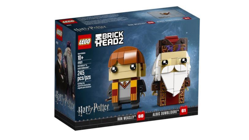 Dettagli del box del set di LEGO BrickHeadz: Ron e Silente