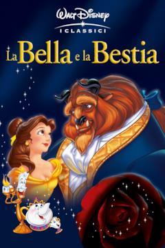 Belle e la Bestia danzano nella locandina del film Disney
