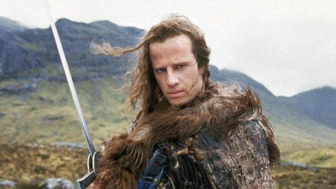 Christopher Lambert nel film Highlander