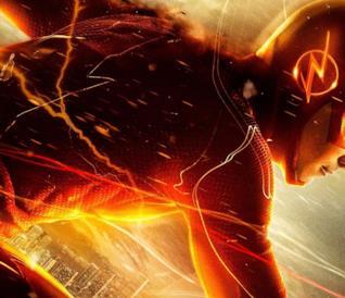 Flash in una scena della serie