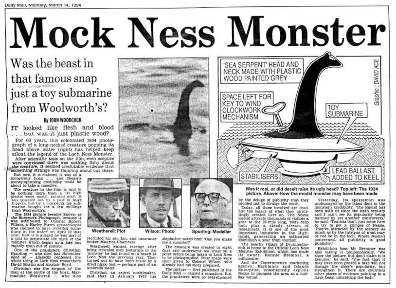 La pagine del Daily Mail che svela l'inganno