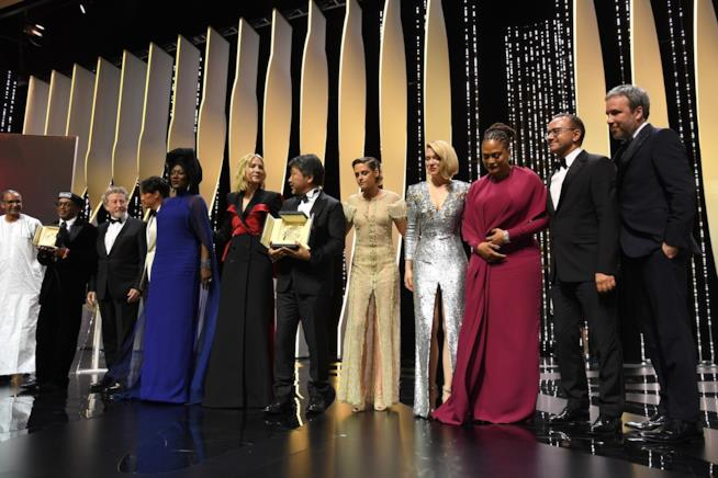 Un momento della cerimonia finale di Cannes 2018