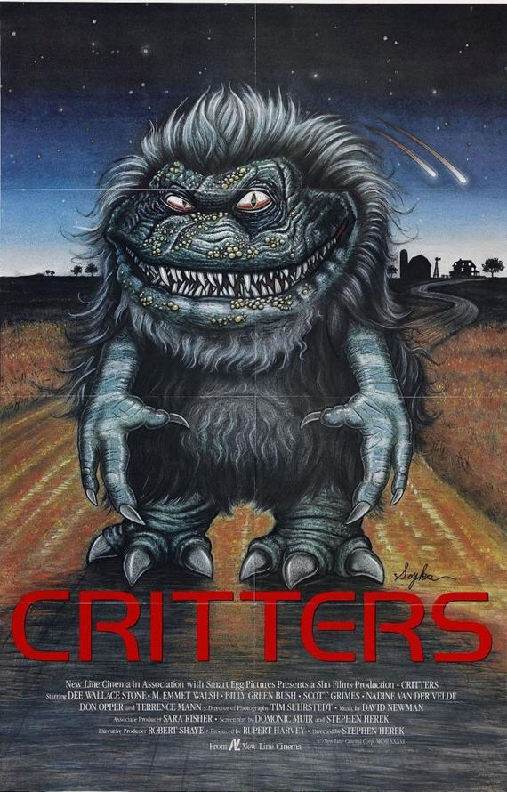 Critters: la locandina del film del 1986