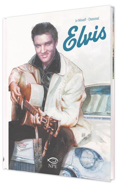 La cover della graphic novel su Elvis Presley