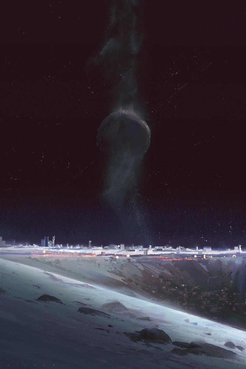 Una città lunare di Luna